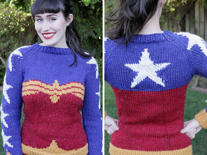 Con este jersey de punto de Wonder Woman tendrás un aspecto súper