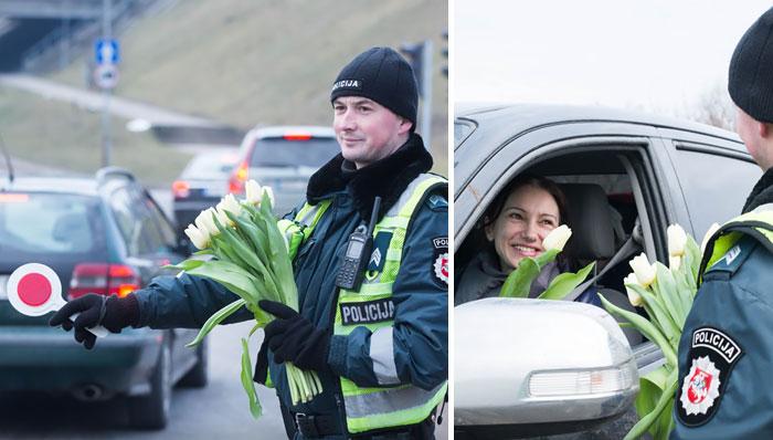 Lo que hacen los policías lituanos en el Día Internacional de la Mujer