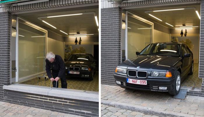 El ayuntamiento le denegó un permiso de garaje a este hombre, pero encontró una solución genial