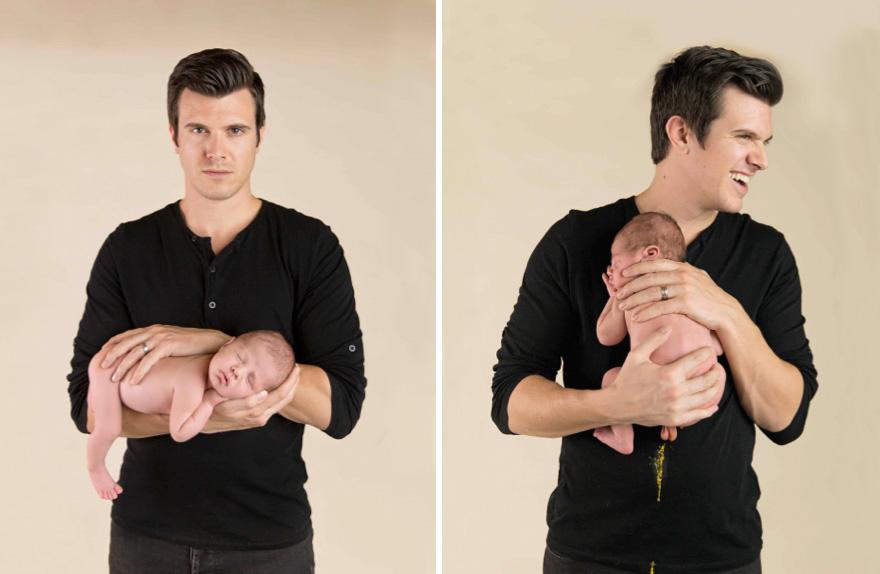 10+ Bebés que arruinaron las sesiones de fotos perfectas de sus padres