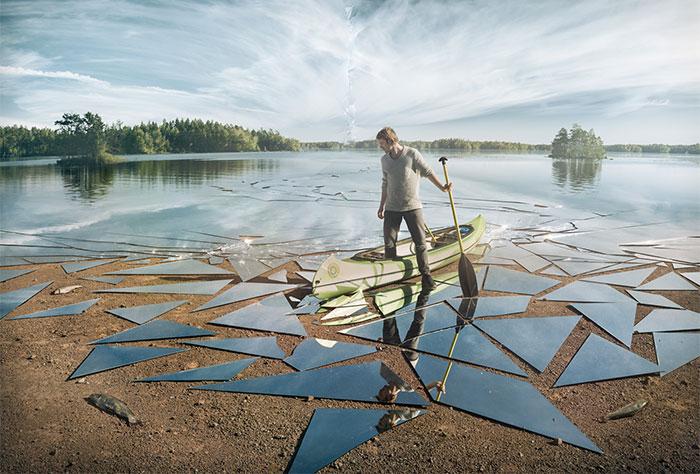 Este fotógrafo utilizó 17 metros cuadrados de espejo para crear esta épica imagen