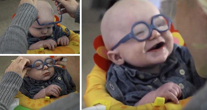 Un bebé ve a su madre la primera vez y su reacción te va a derretir tu corazón