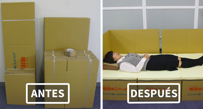 Cajas como camas: Esta ingeniosa idea ayuda a las víctimas del terremoto en Japón