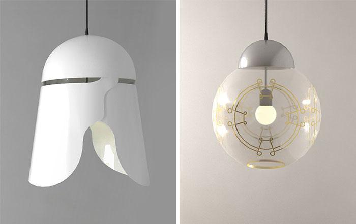 He creado lámparas inspiradas en la Guerra de las Galaxias
