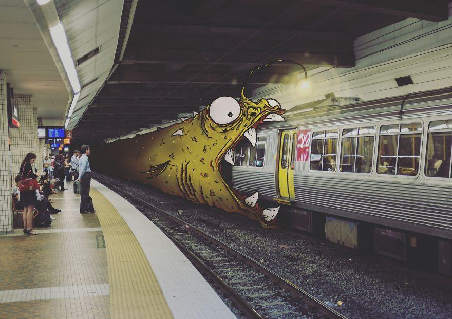 Añado monstruos a la vida real para hacerla más divertida