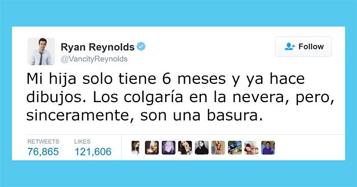 Los divertidos tuits honestos de Ryan Reynolds sobre su hija son mejores que Deadpool