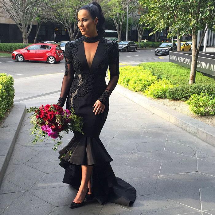 Una novia rompe con la tradición y se casa llevando un vestido negro