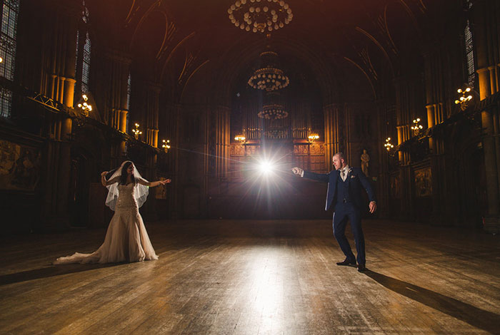 Esta boda temática de Harry Potter fue pura magia