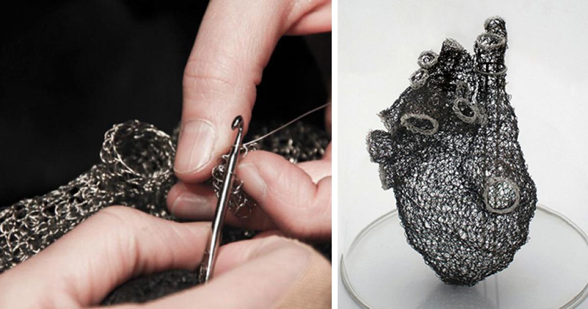 Esta artista pasó miles de horas haciendo ganchillo con alambre para ...