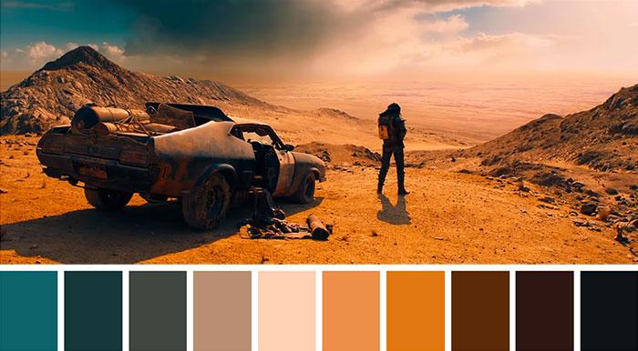 Este tuitero ha publicado las paletas de colores de famosas escenas de películas