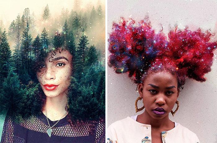 Peinados Afro Convertidos En Galaxias Floridas Para Que Las Mujeres