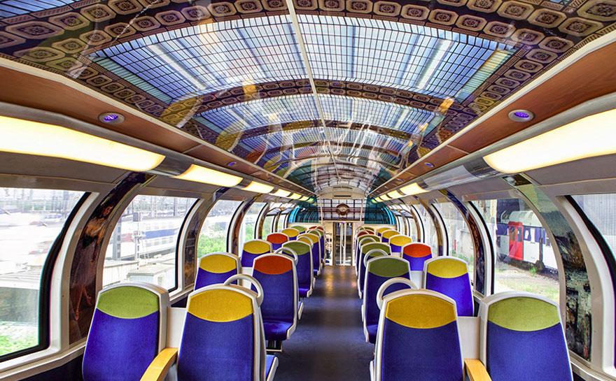 Estos trenes franceses están convirtiéndose en museos móviles de arte