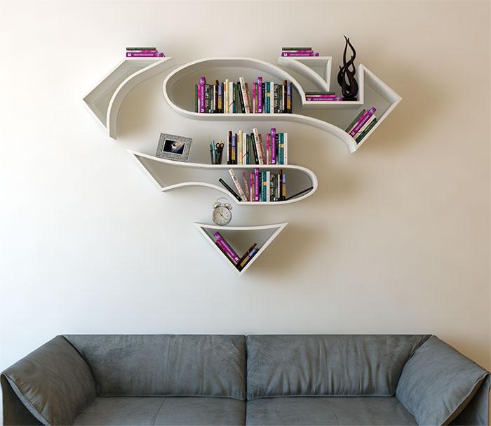 Estanterías de superhéroes, por el diseñador turco Burak Dogan