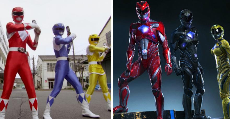 Superhéroes antes y en la actualidad - Power Rangers