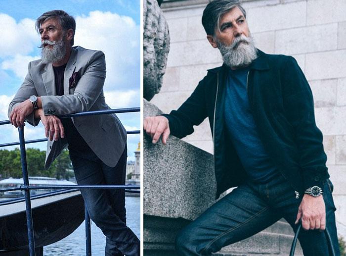 Este hombre de 60 años se convierte en modelo tras dejarse barba