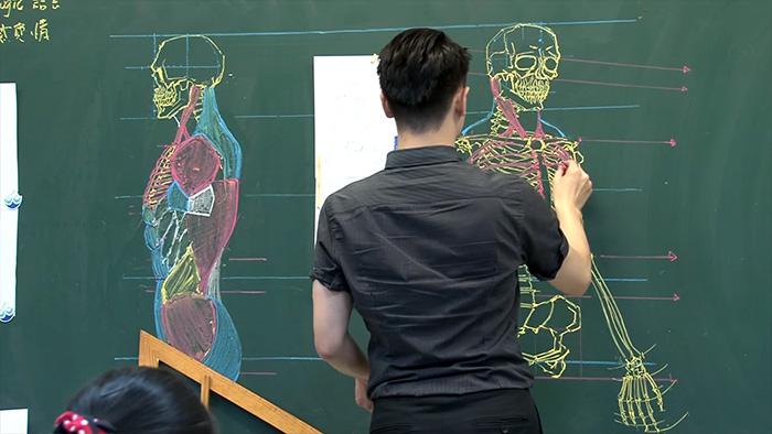 Este profesor taiwanés sabe dibujar en la pizarra a la perfección ...