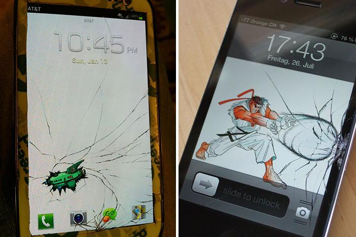"10 Soluciones creativas para ""arreglar"" la pantalla rota de tu móvil"