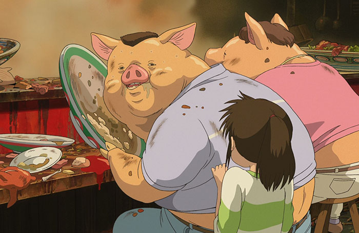 Estudio Ghibli al fin explica por qué los padres de Chihiro se convirtieron en cerdos