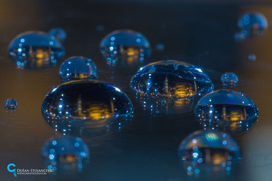 He pasado 15 años fotografiando ciudades en gotas de agua