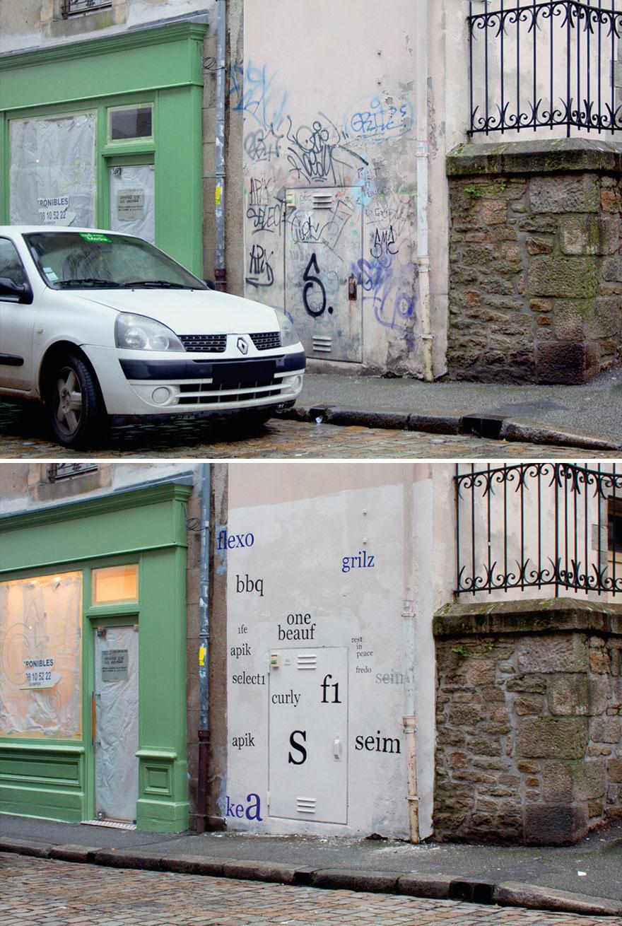 Los graffitis reescritos por Mathieu Tremblin 3