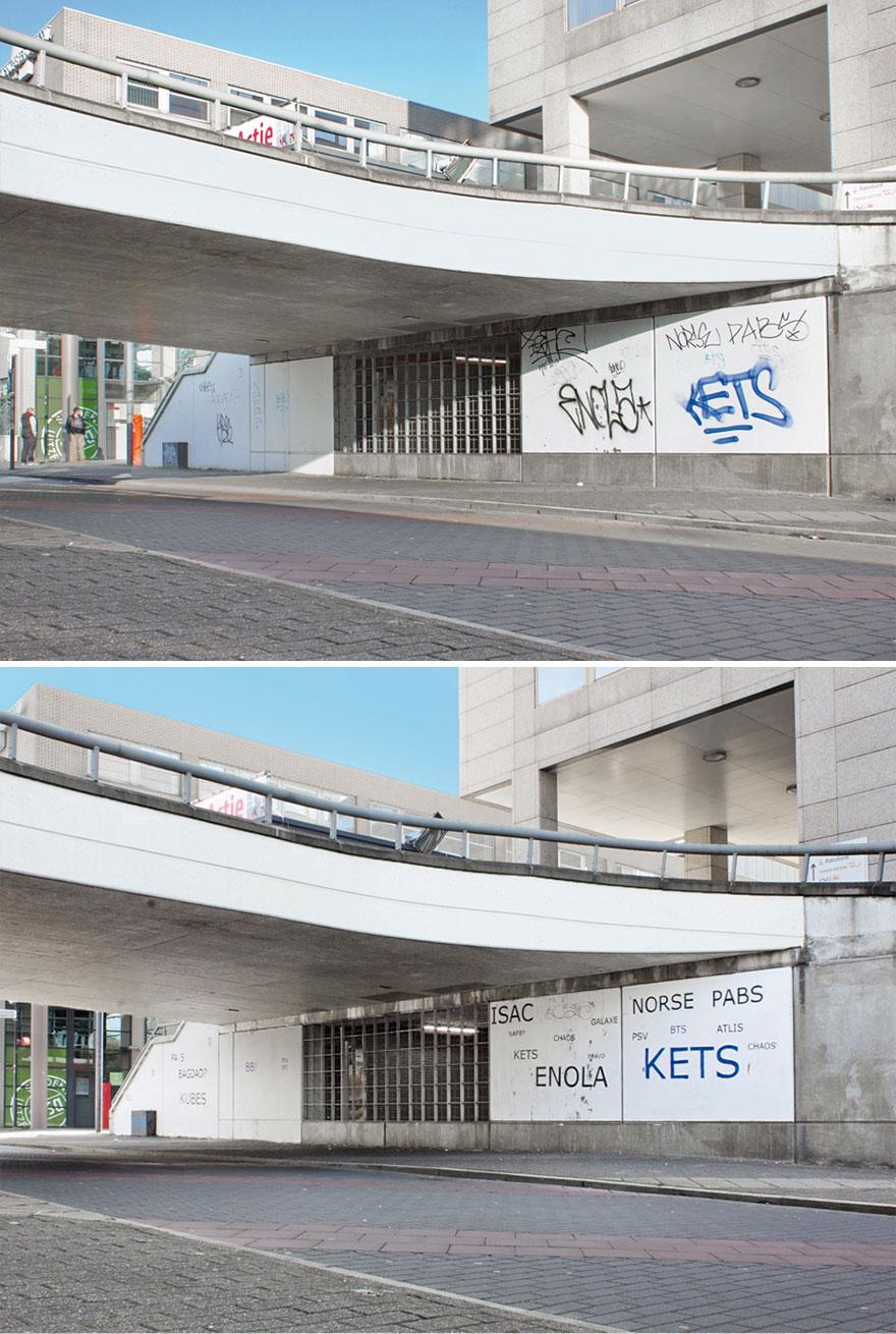 Los graffitis reescritos por Mathieu Tremblin 7
