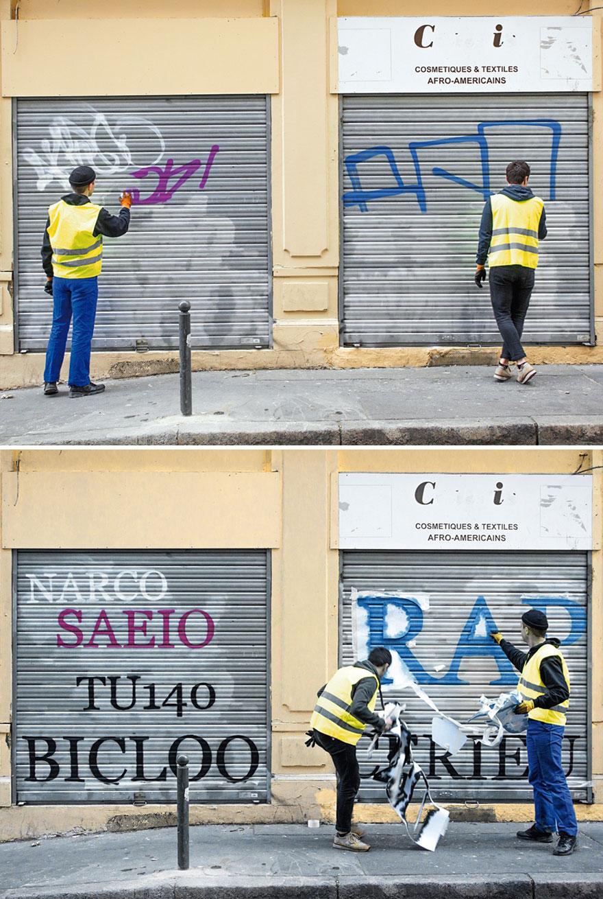 Los graffitis reescritos por Mathieu Tremblin 6