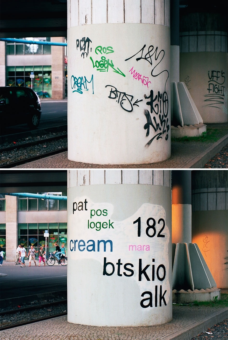 Los graffitis reescritos por Mathieu Tremblin 4