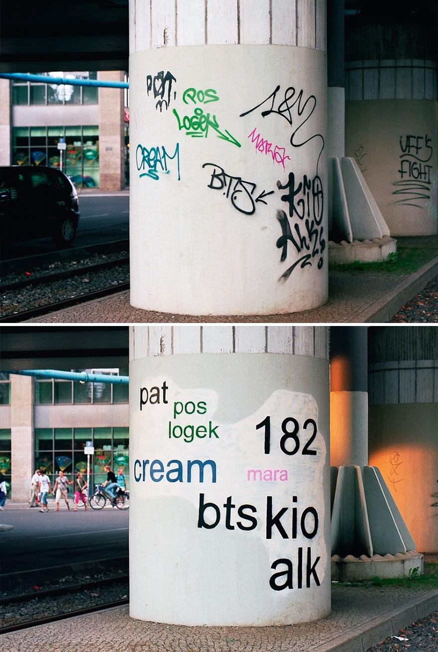 Los graffitis reescritos por Mathieu Tremblin 4