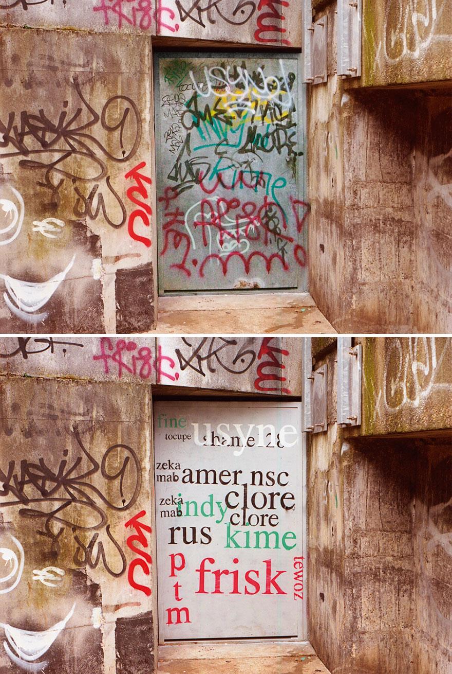 Los graffitis reescritos por Mathieu Tremblin 5