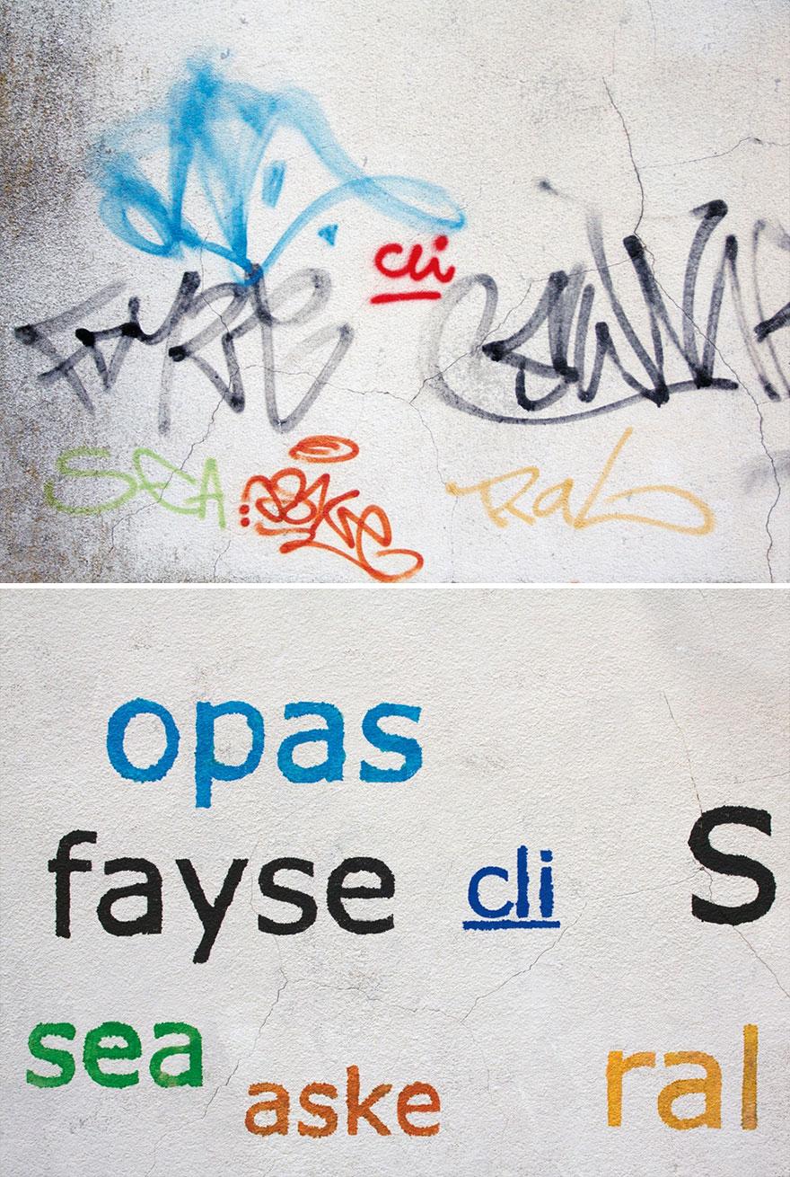 Los graffitis reescritos por Mathieu Tremblin 8