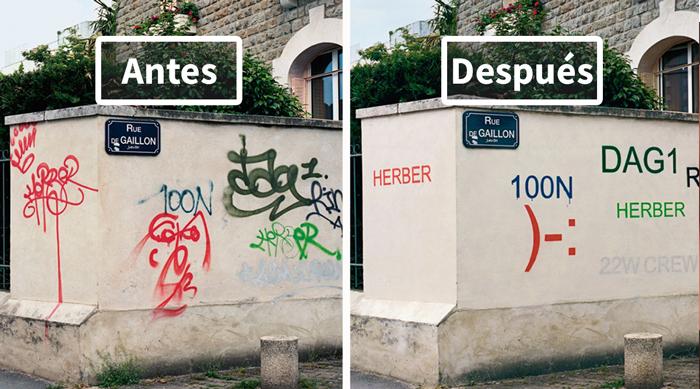 Este artista pinta sobre los graffitis feos para hacerlos legibles