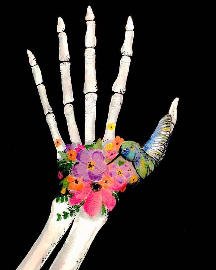 ilusiones-opticas-pintura-brazos-lisha-simpson (4)