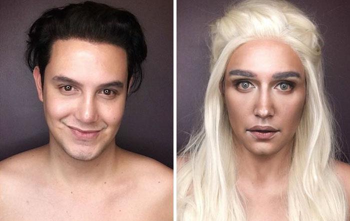 Este hombre se transforma en personajes de Juego de Tronos usando solo maquillaje