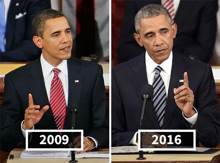 10 Presidentes de Estados Unidos antes y después de sus mandatos