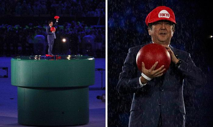 El primer ministro japonés se viste de Super Mario en la ceremonia de clausura de las Olimpiadas como anticipo de Tokyo 2020