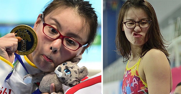 La gente adora las reacciones de esta nadadora olímpica que ha conquistado internet