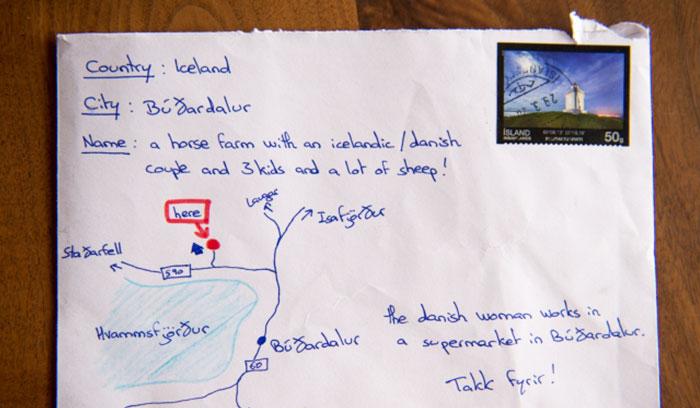 Este hombre desesperado sin una dirección dibujó un mapa en la carta y llegó a su destino