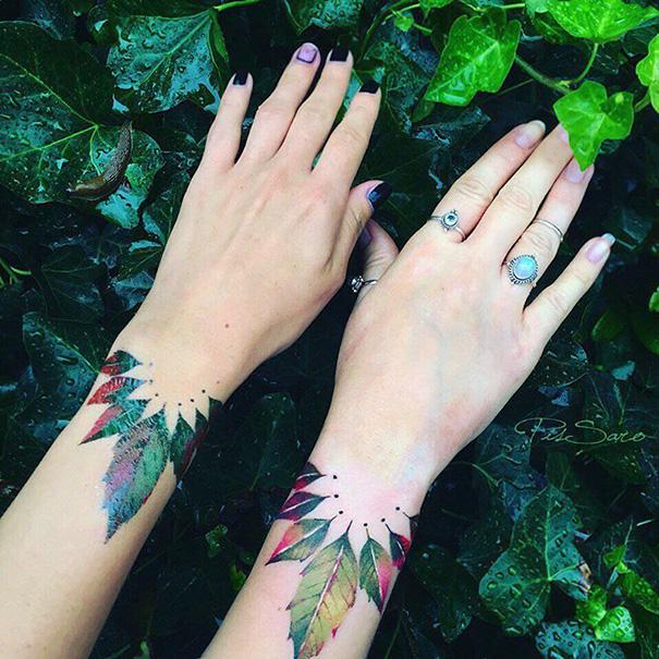 Tatuajes Amigas 20 ideas para tatuarte junto a tus mejores amigos | bored panda