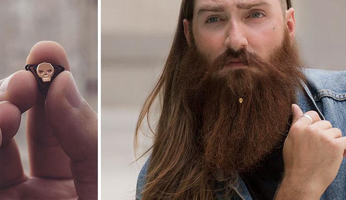 La primera colección de joyería existente para hombres barbudos