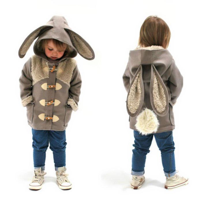 Adorables abrigos que convierten a los niños en animales