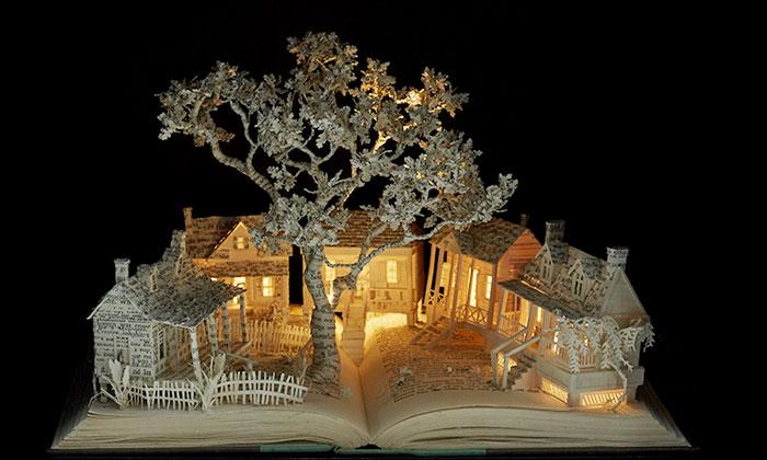 Libros viejos convertidos en esculturas de cuento de hadas, por Su Blackwell