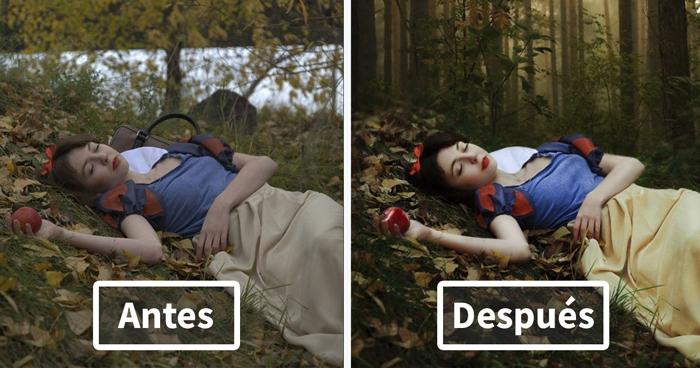 15 Imágenes antes y después de photoshop muestran el cambio tras una foto hermosa