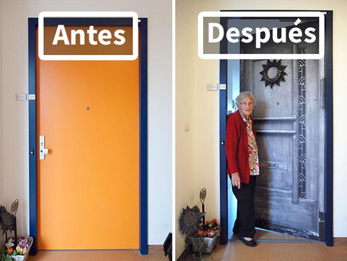 Esta compañía recrea las puertas de los pacientes con demencia para ayudarlos a orientarse y sentirse más como en casa