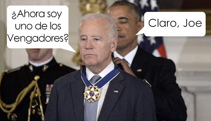10 Divertidos memes sobre Obama sorprendiendo a Joe Biden con la Medalla de la Libertad