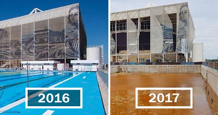 Los estadios olímpicos solamente 6 meses después de los Juegos Olímpicos de 2016 de Río de Janeiro