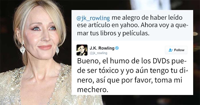 10 Veces que J. K. Rowling destruyó de forma brutal a los trolls de internet