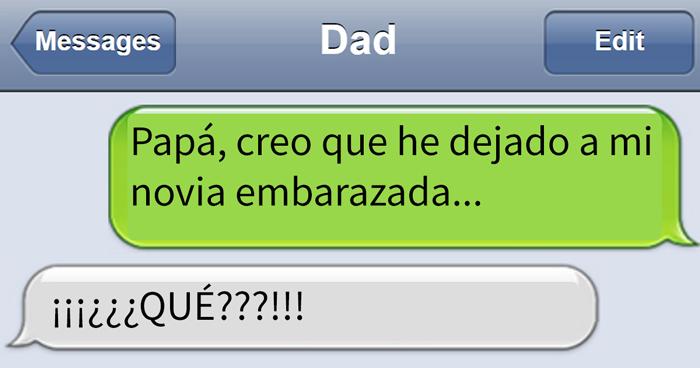 10 Divertidos mensajes de texto que mandan los padres