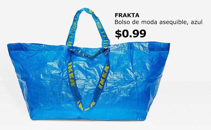 IKEA responde a la aparición del bolso de Balenciaga de 2145$ que es igual que la bolsa de 99 centavos de IKEA
