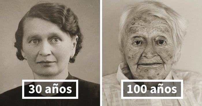 Antes & ahora: Las mismas personas fotografiadas en su juventud y como centenarios
