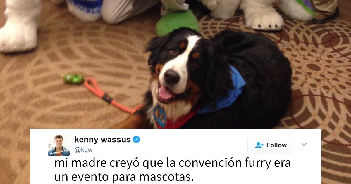 """Esta mujer llevó a su perro a una """"convención furry"""" sin saber que no era para mascotas, y se hizo famosa"""
